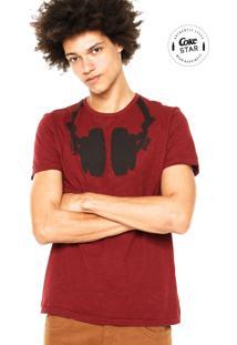 Camiseta Coca-Cola Jeans Estampada Vinho