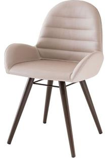Cadeira Arm Assento Estofado Dunas Fendi Com Base Tabaco - 46864 Sun House