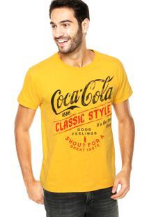 Camiseta Coca-Cola Jeans Classic Amarela