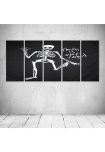 Quadro Decorativo - Skeleton2 - Composto De 5 Quadros - Multicolorido - Dafiti