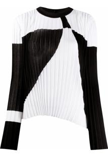 Balmain Blusa De Tricô Com Pregas - Preto