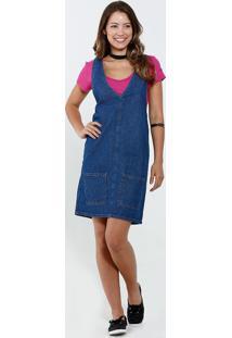 8a0dc83cc Vestido Jeans Rosa feminino