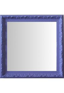 Espelho Moldura Rococó Raso 16403 Lilás Art Shop