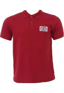 Camisa Polo England Leeds Vermelha
