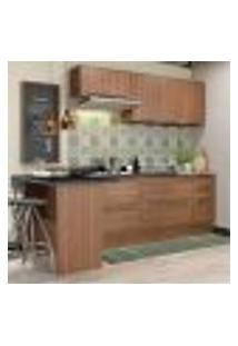 Cozinha Completa Multimóveis Com 6 Peças Calábria 5455R Nogueira