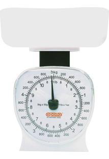 Balança De Cozinha Compacta 5 Kg Branca Apollo