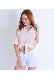 ... Camisa Listrada Feminina Facinelli b428311a405da