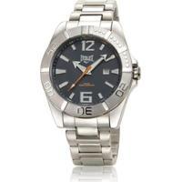29145de211b Relógio Everlast Masculino Cx E Pulseira Aço Analógico - Masculino-Prata+ Preto