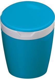 Lixeira Multiuso Com Tampa Basculante 2,7L Ct6 Astra Blueberry/Branco