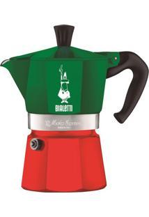 Cafeteira Moka Express- Verde & Vermelha- 21,8X16,6Ximeltron