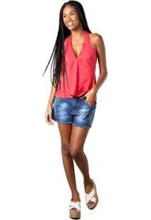Blusa Mercatto Frente Única Feminina - Feminino-Vermelho