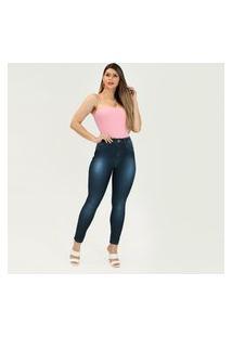 Calça Jeans Imporium Feminina Skinny Cintura Super Alta Cós Alto Azul