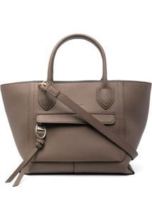 Longchamp Bolsa Tote Mailbox De Couro - Neutro