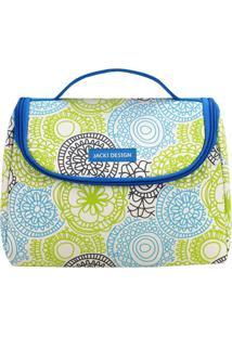 Bolsa Térmica Com Alça- Azul & Verde- 16X22X12Cmjacki Design