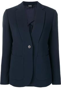 Aspesi Blazer Com Abotoamento Único - Azul