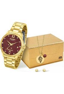 Kit Relógio Mondaine Feminino Capricórnio - 99128Lpmkde8K1 - Feminino-Dourado