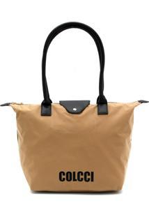 Bolsa Colcci Logo Bege