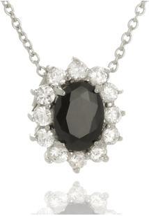 Colar Le Diamond Pedras Micro Zircônia Preto - Tricae