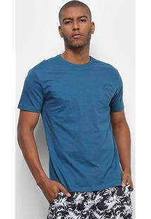 Camiseta Aleatory Selo Masculina - Masculino-Azul
