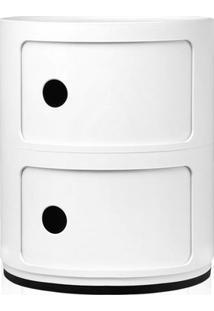 Módulo Organizador Castelli - Criado Mudo - 2 Andares - Branco
