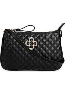 Bolsa Capodarte Mini Bag Matelassê Logo Feminina - Feminino-Preto