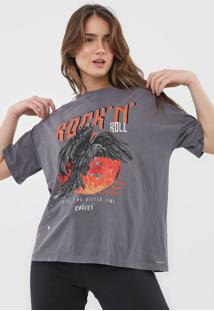 Camiseta Colcci Rock N' Roll Cinza