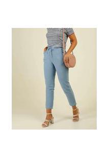 Calça Jeans Cigarrete Feminina Amarração Biotipo
