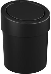 Lixeira Automática- Preta- 25,6Xø20Cm- 5L- Bbrinox