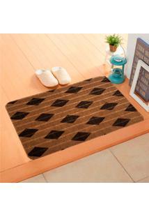 Capacho Carpet Triangulos Separados Marrom