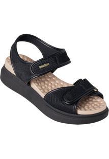 Sandália Modare Preta Em Tecido