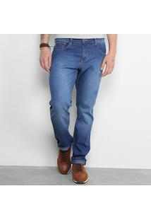 Calça Jeans Slim Triton John Regular Fit Masculina - Masculino-Azul