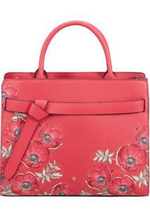 Bolsa Floral Com Nã³- Vermelha & Roxa- 24,6X30,3X12,4Samsonite