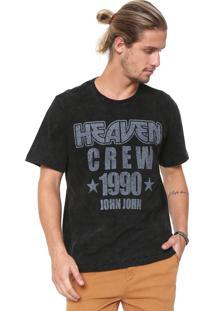 Camiseta John John Heaven Crew Preta
