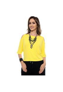 Blusa Ombro Vazado Cibele B'Bonnie Amarela