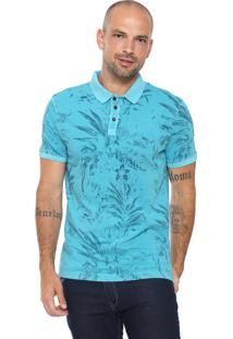 Camisa Polo Aramis Floral Azul