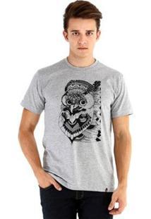 Camiseta Ouroboros Manga Curta Owl - Masculino-Cinza