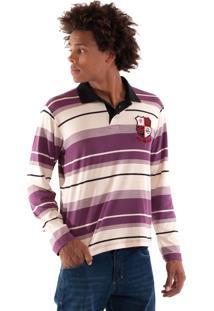 Camisa Polo Konciny Malha Confort Violeta
