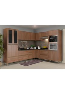 Cozinha Completa Multimã³Veis Com 10 Peã§As Calã¡Bria 5461Mf Nogueira - Incolor/Marrom - Dafiti