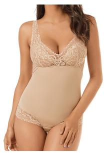 Body Modelador Com Renda Mondress (965R)