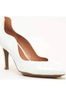 Scarpin Com Ondas- Branco- Salto: 7,5Cmcecconello