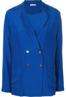 P.A.R.O.S.H. Blazer Com Abotoamento Duplo - Azul
