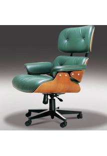 Poltrona Giratória Eames Executiva 5 Patas Rodízios Clássica Design By Charles E Ray Eames