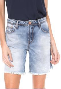 Bermuda Jeans Forum Reta Lara Azul