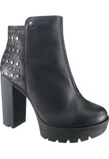 Bota Ankle Boot Tanara Em Couro