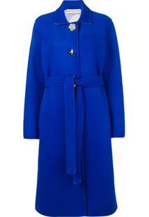 Emilio Pucci Casaco De Lã Com Abotoamento - Azul