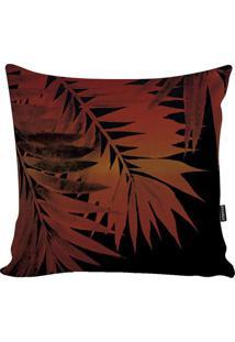 Capa Para Almofada Blackred Foliage- Preta & Laranja Escstm Home