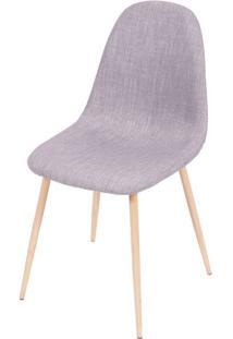 Cadeira Charla- Cinza & Madeira Clara- 85,5X45X40Cm