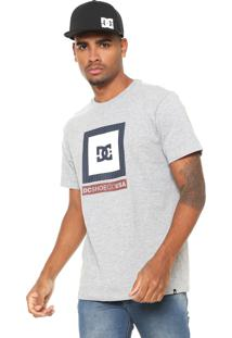 Camiseta Dc Shoes Attitude Cinza