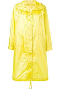Aspesi Casaco Impermeável Longo - Amarelo
