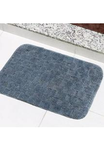 Tapete Para Banheiro Tapetes Junior Jasmim Em Polipropileno 40X60Cm Cinza Antiderrapante